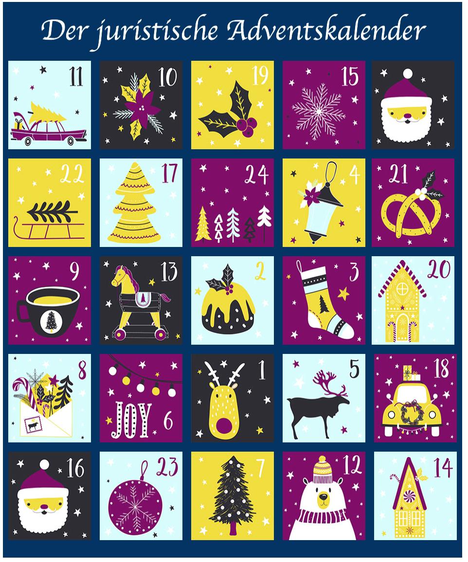Die Juristinnen Und Juristen Verkurzen Ihnen Dieses Jahr Die Wartezeit Bis Weihnachten Mit Spannenden Interessanten Oder Adventkalender Adventskalender Advent