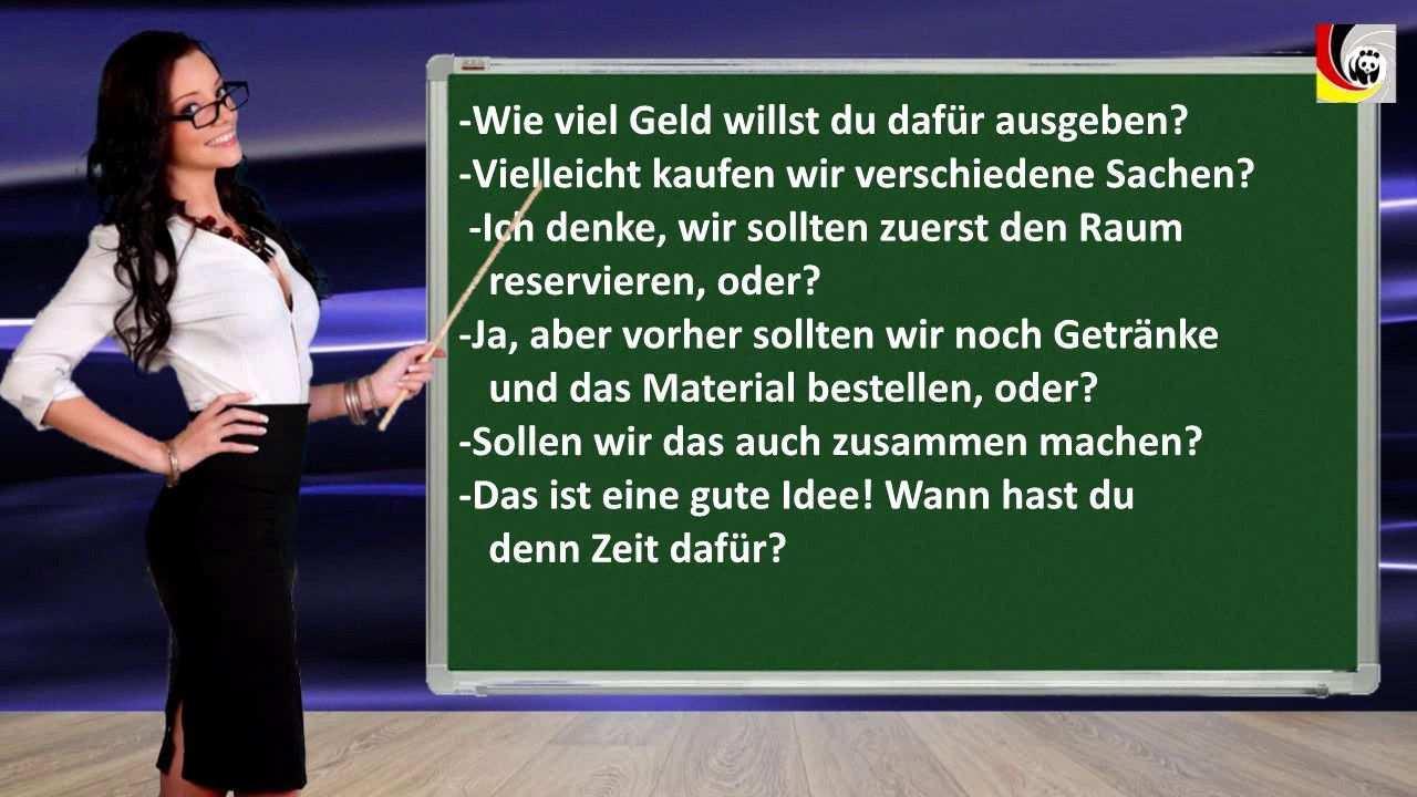 Gemeinsam Etwas Planen B1 Redemittel Fragen German Language Learning Learn German German Language