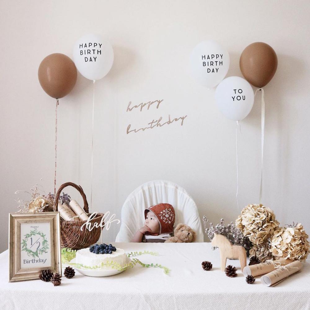 Halb Geburtstag Was Eine Grundliche Erklarung Von Den Dreharbeiten Ideen Kostenlose Vor In 2020 Baby Birthday Decorations Baby Party Decorations Simple Birthday Party