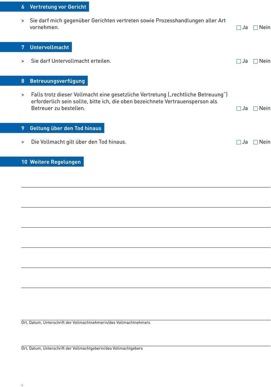Vorsorgevollmacht Nach Den Vorgaben Des Bundesministeriums Der Justiz Pdf Free Download