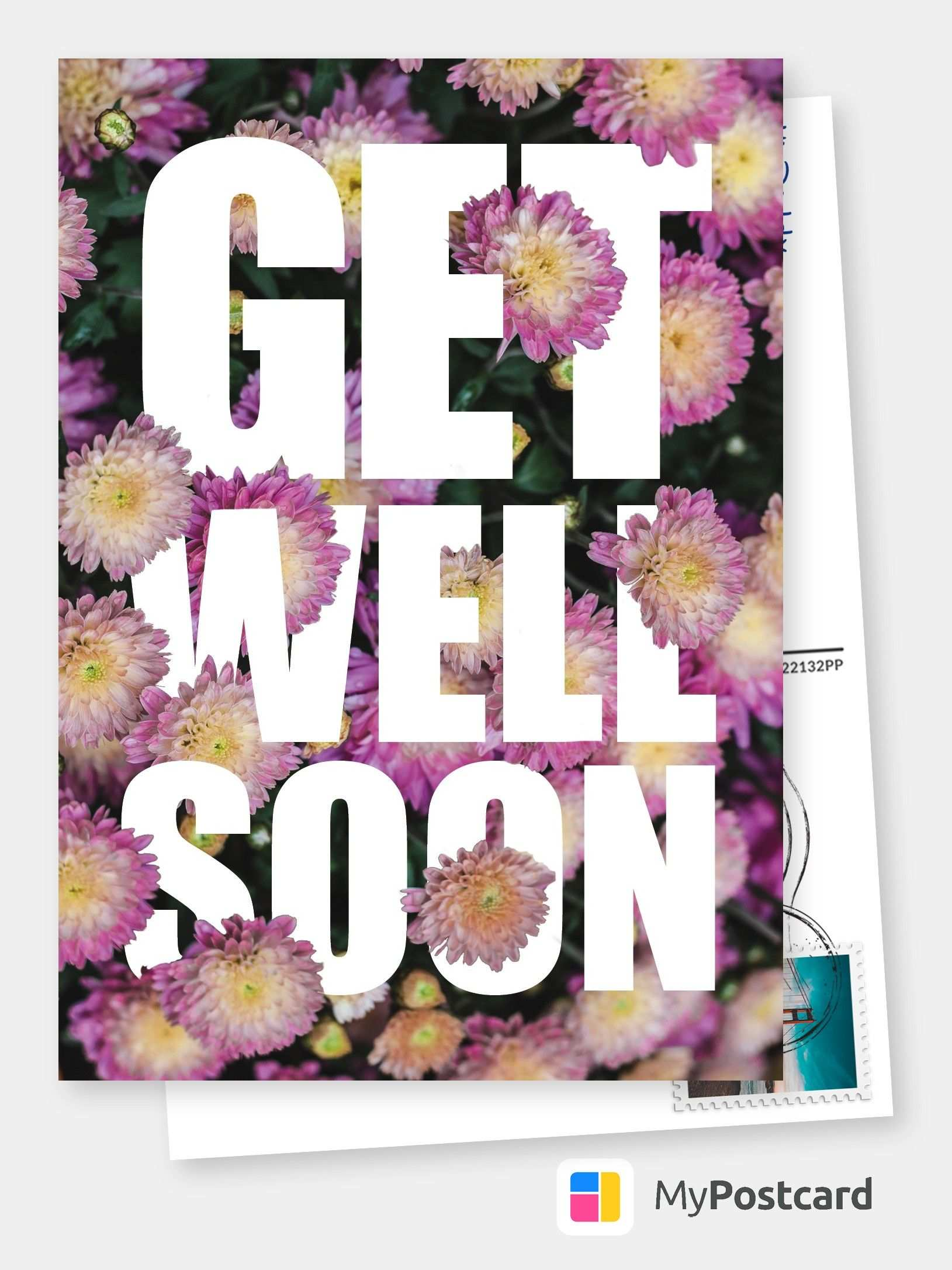 Create Your Own Get Well Soon Cards Free Printable Templates Printed Mailed For You Photo Cards Photo Postcards Greeting Cards Online Sevice Postca Gute Besserung Karte