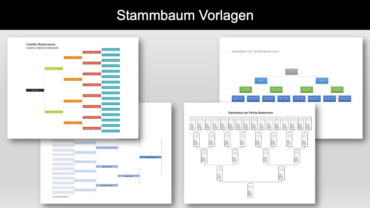 Stammbaum Vorlage Gratis Excel Word Vorlage Muster Vorlage Ch