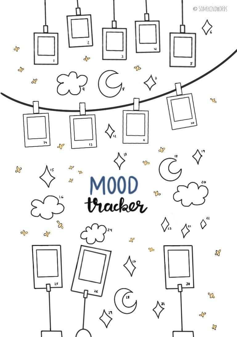 Mood Tracker Kostenlose Vorlage Zum Ausdrucken Bullet Journal Mood Tracker Ideas Bullet Journal Mood Bullet Journal Diy