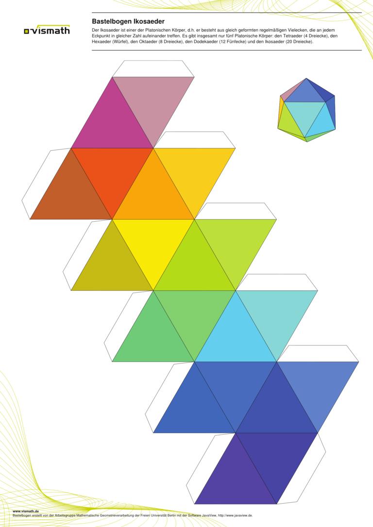 Bastelbogen Set Platonische Korper Fussball Und Kaleidozykel Bauen Konstruieren Bastelbogen Geometrische Origami Platonische Korper Pappschachtel Vorlage