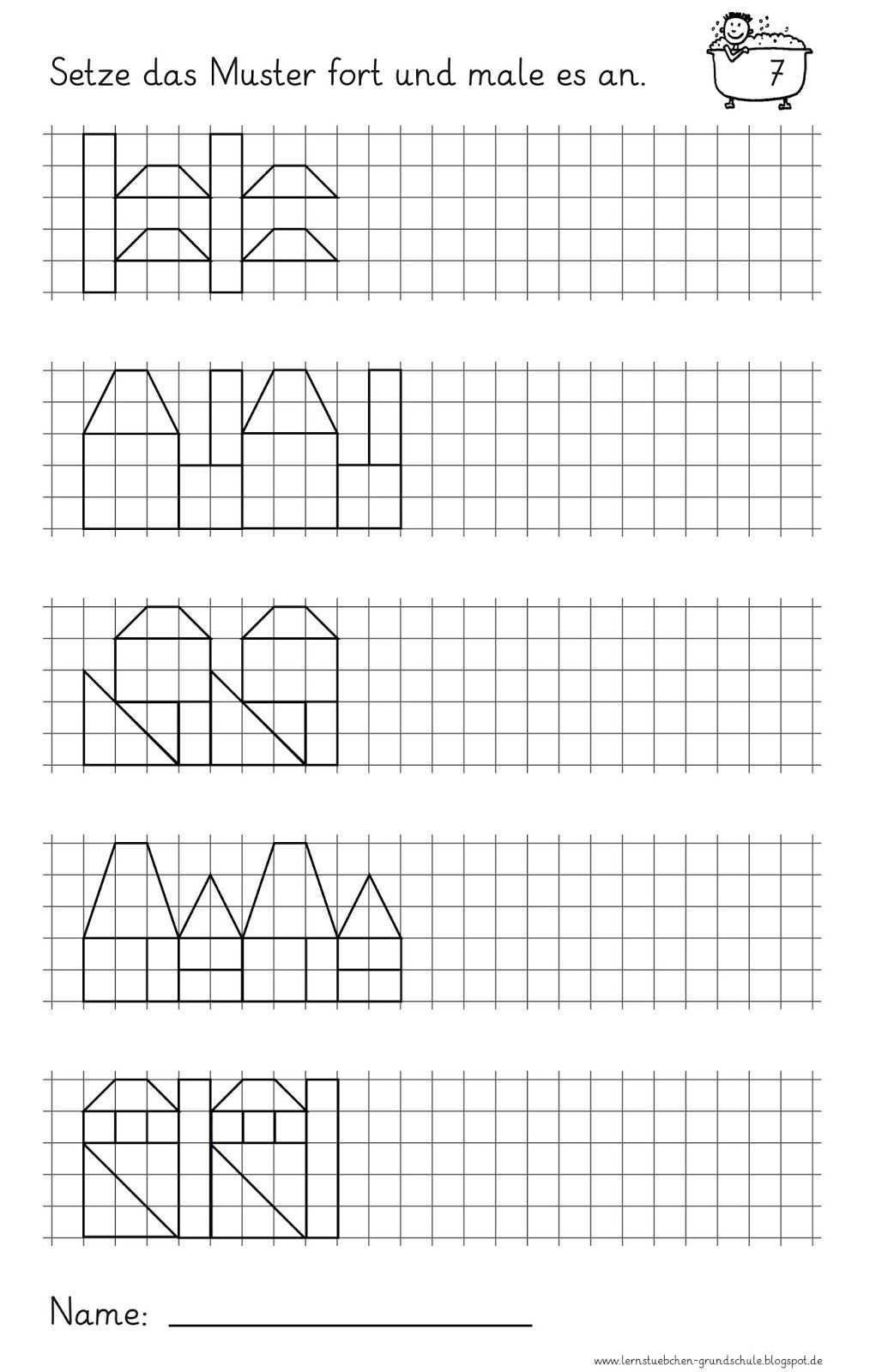 Muster Fortsetzen Und Anmalen 3 Kooperatives Lernen Mathematikunterricht Mathe Unterrichten