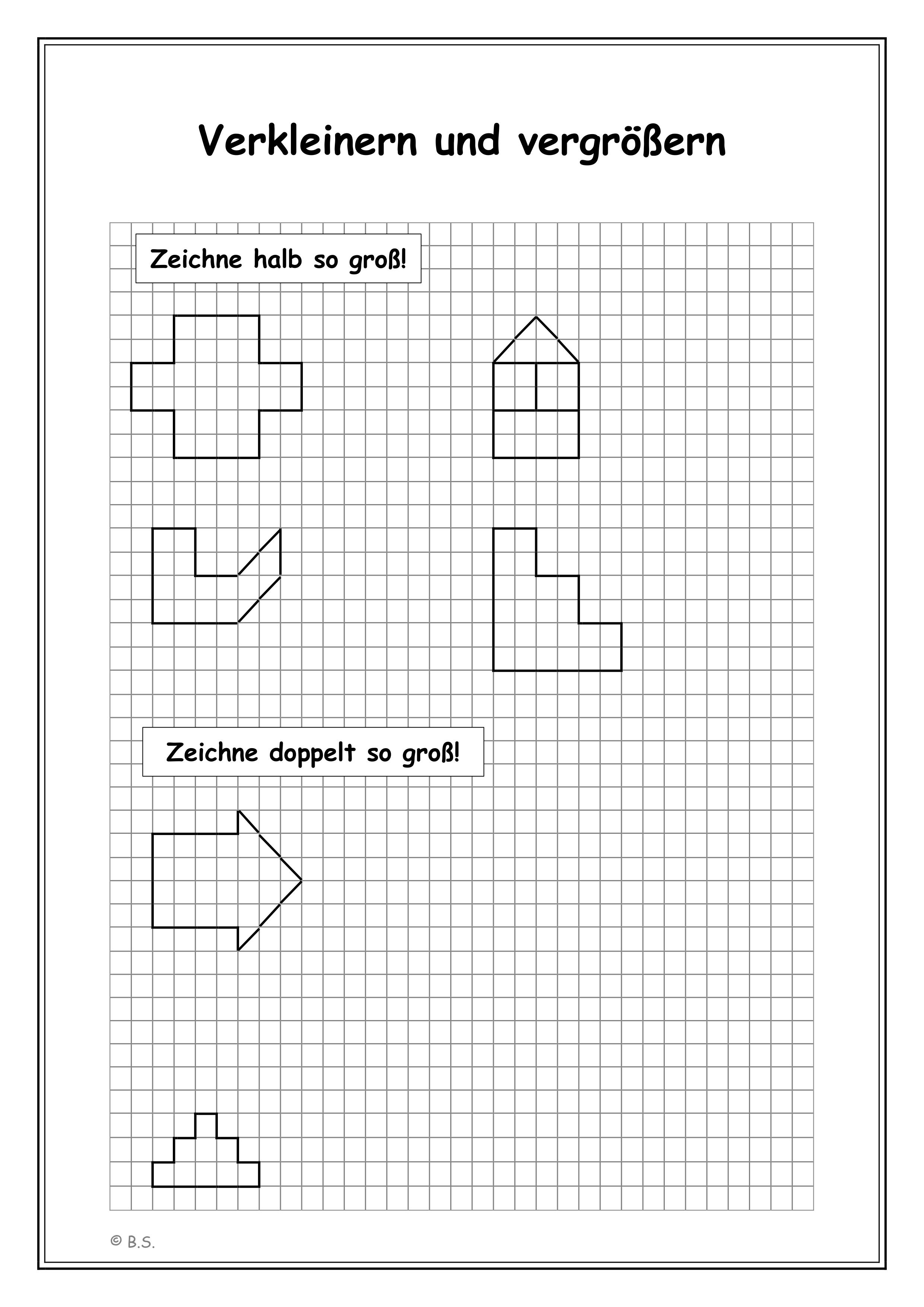 Figuren Und Formen Vergrossern Und Verkleinern Unterrichtsmaterial Im Fach Mathematik Unterrichtsmaterial Mathematikunterricht Formen