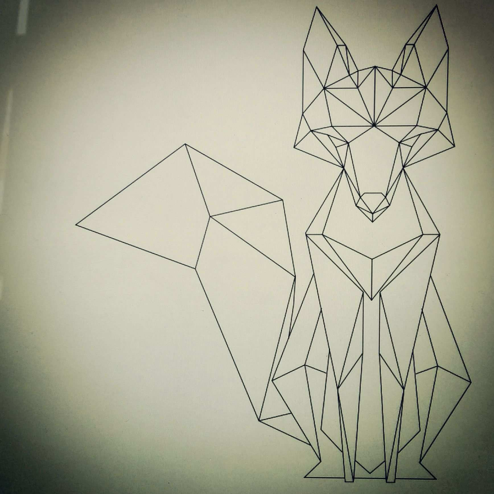 Geometric Fox Geometric Drawing Geometric Animals Geometric Fox