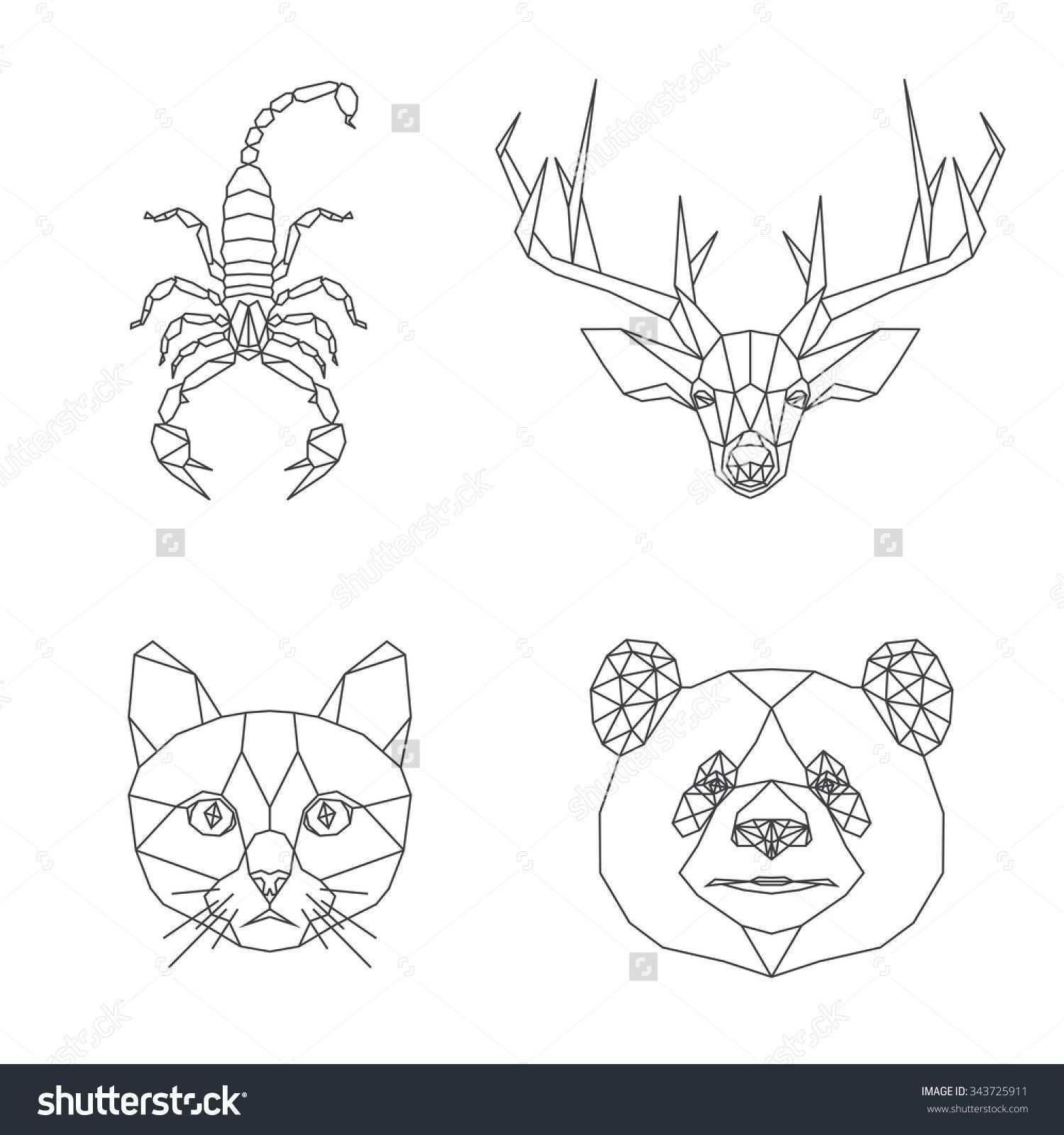 Pin By Carolina Angulo On Tattoo Geometric Animals Animal Illustration Geometric
