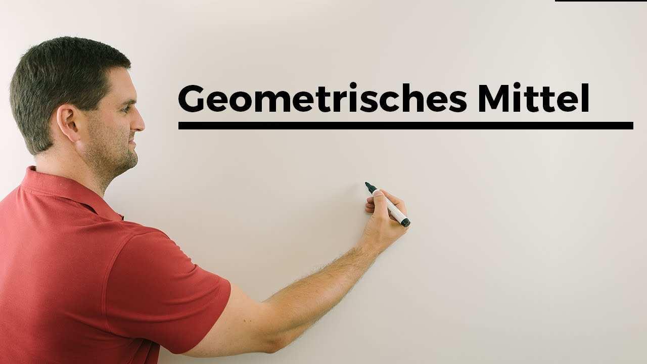 Geometrisches Mittel Statistik Mathehilfe Online Erklarvideo Mathe By Daniel Jung Youtube