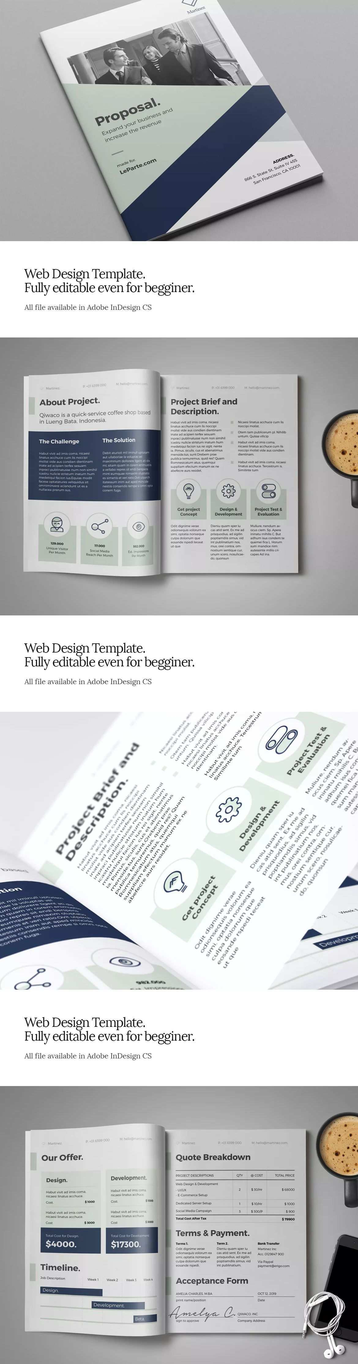 Brief Proposal By Broluthfi On Envato Elements Proposal Templates Web Template Design Proposal Design
