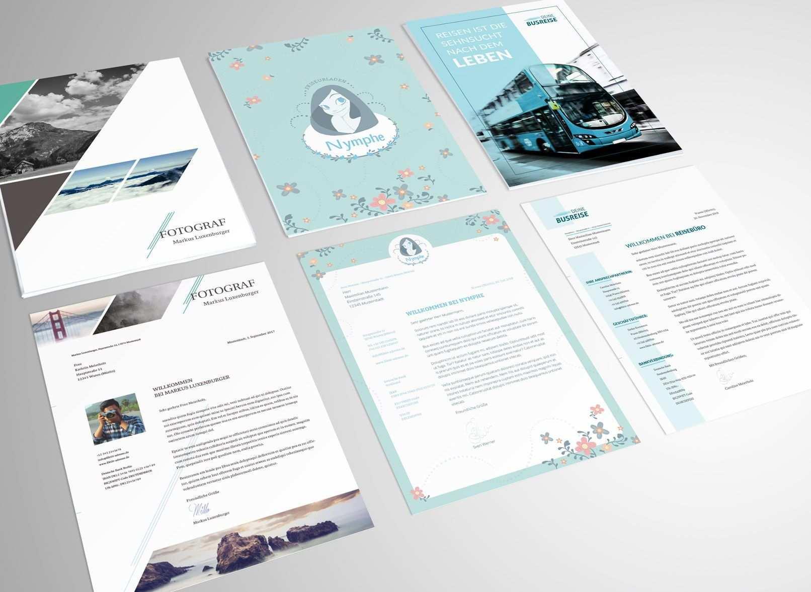 Briefpapier Designs Fur Word Indesign Und Coreldraw Briefpapier Design Briefpapier Briefpapier Vorlage