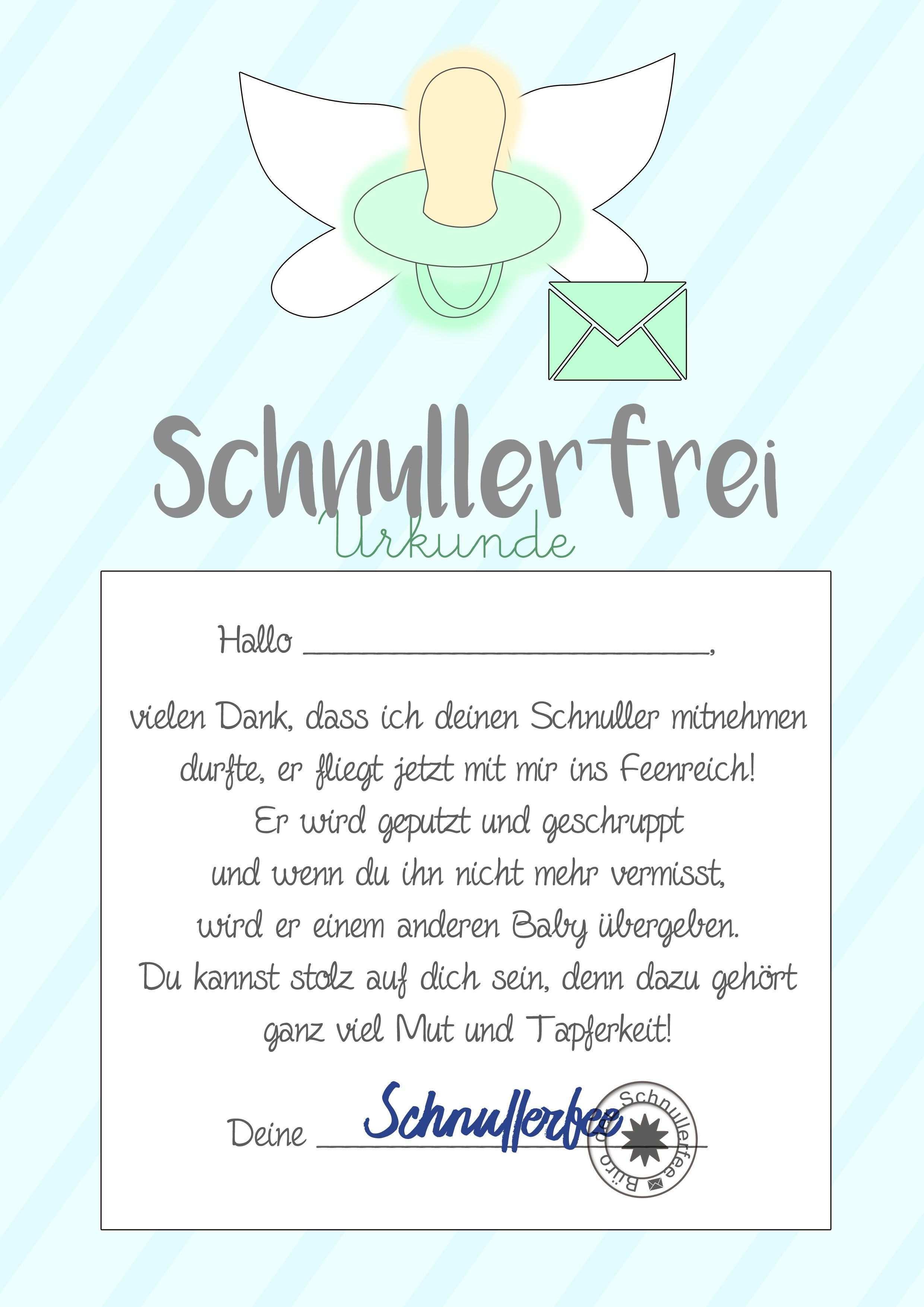 Schnullerfee Brief Vorlage Zum Ausdrucken Schnullerfee Elternbriefe Schnuller