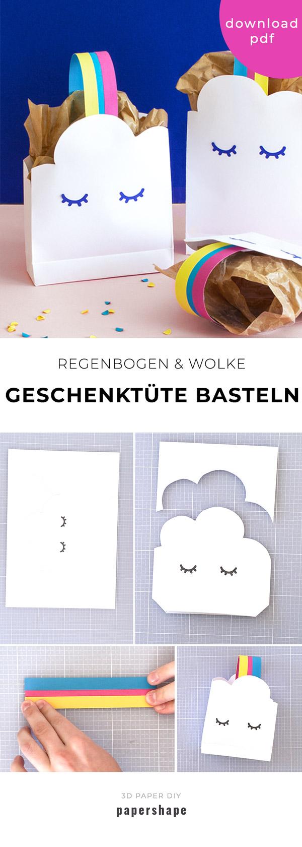 Lustige Geschenktute Basteln Zum Kindergeburstag Mit Vorlage Geschenktute Basteln Kindergeburtstag Basteln Geschenktute