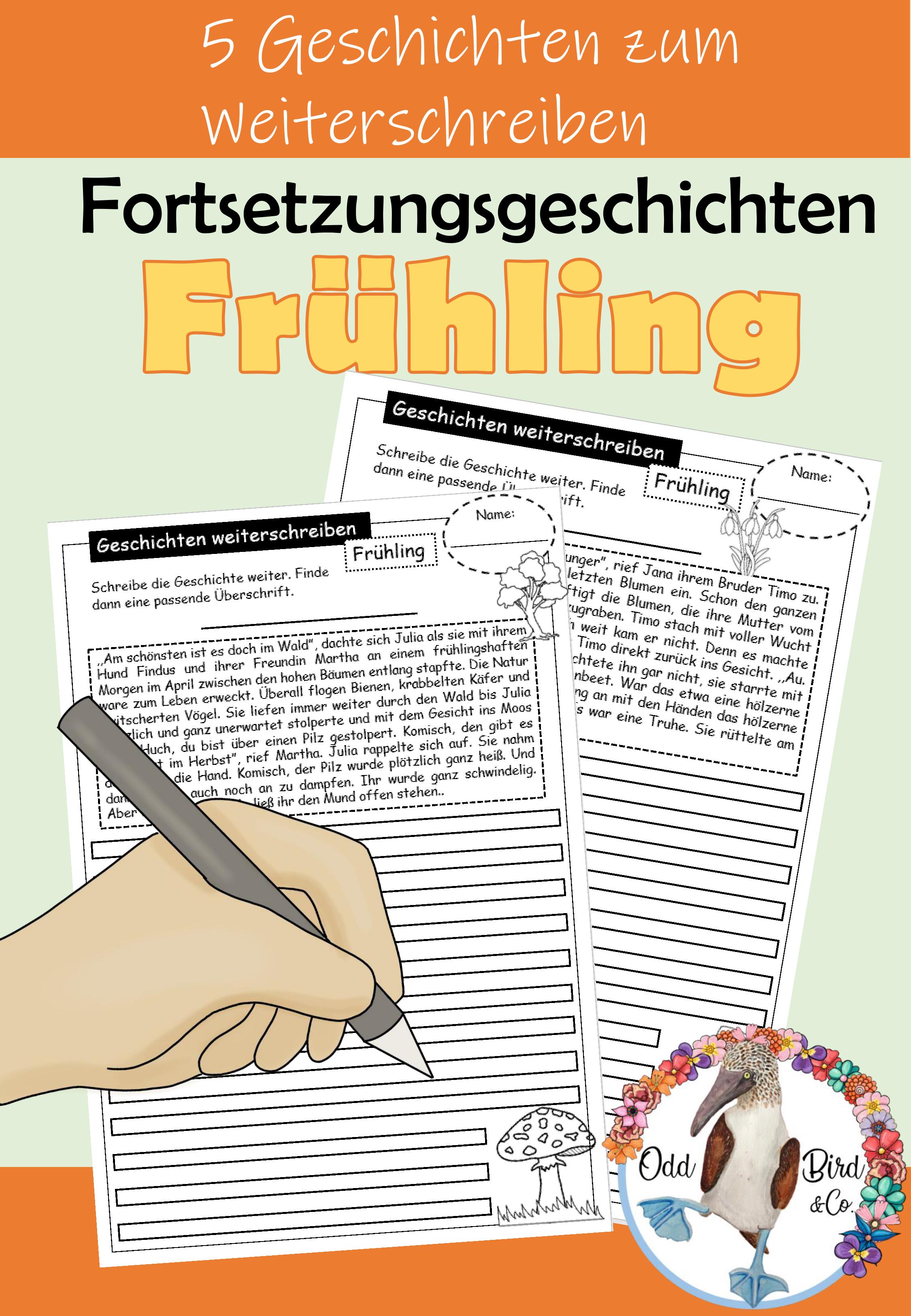 Fruhling Geschichten Weiterschreiben Fortsetzungsgeschichten Schreiben Kreatives Und Freies Schreiben Im Deutschunterricht Unterrichtsmaterial In Den F Deutsch Unterricht Geschichten Daf