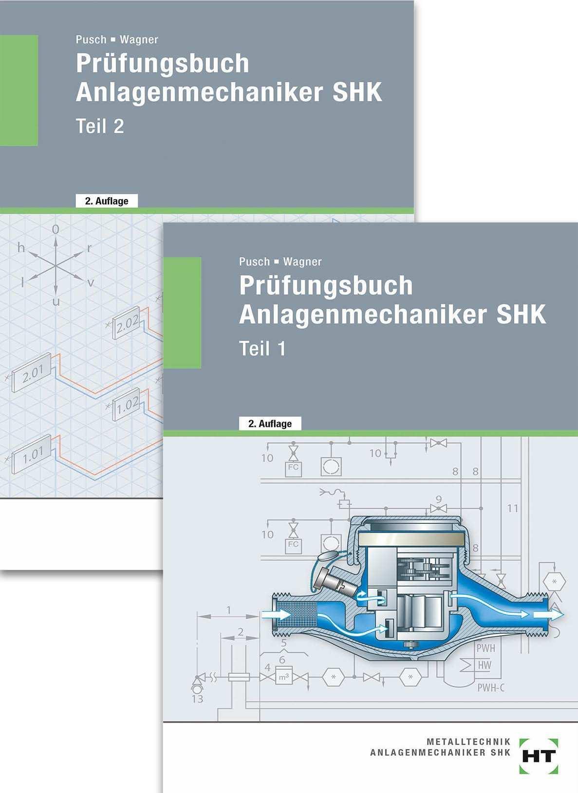 Prufungsbuch Anlagenmechaniker Shk Teil 1 Und Teil 2 Amazon De Peter Pusch Josef Wagner Bucher