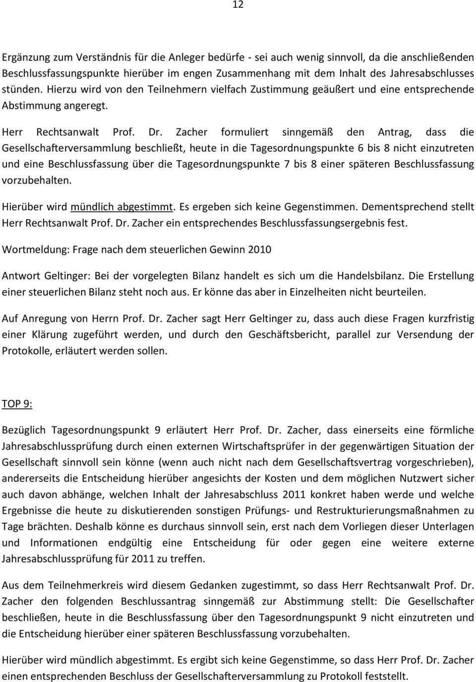 Protokoll Der Ordentlichen Gesellschafterversammlung Der Debi Select Flex Fonds Gbr Escara Halle Essenbach Pdf Free Download