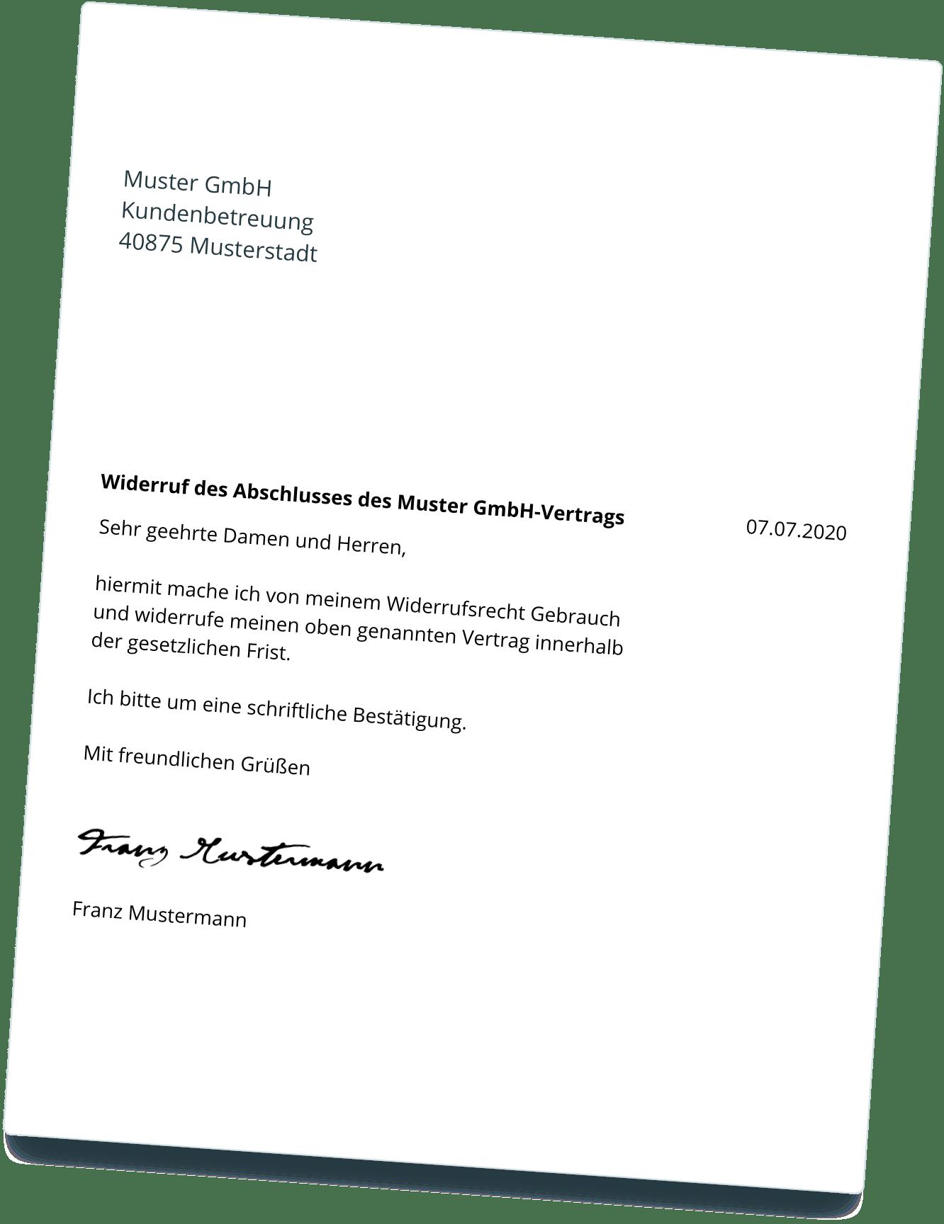 Adac Widerrufen Geprufte Vorlage Direkter Versand