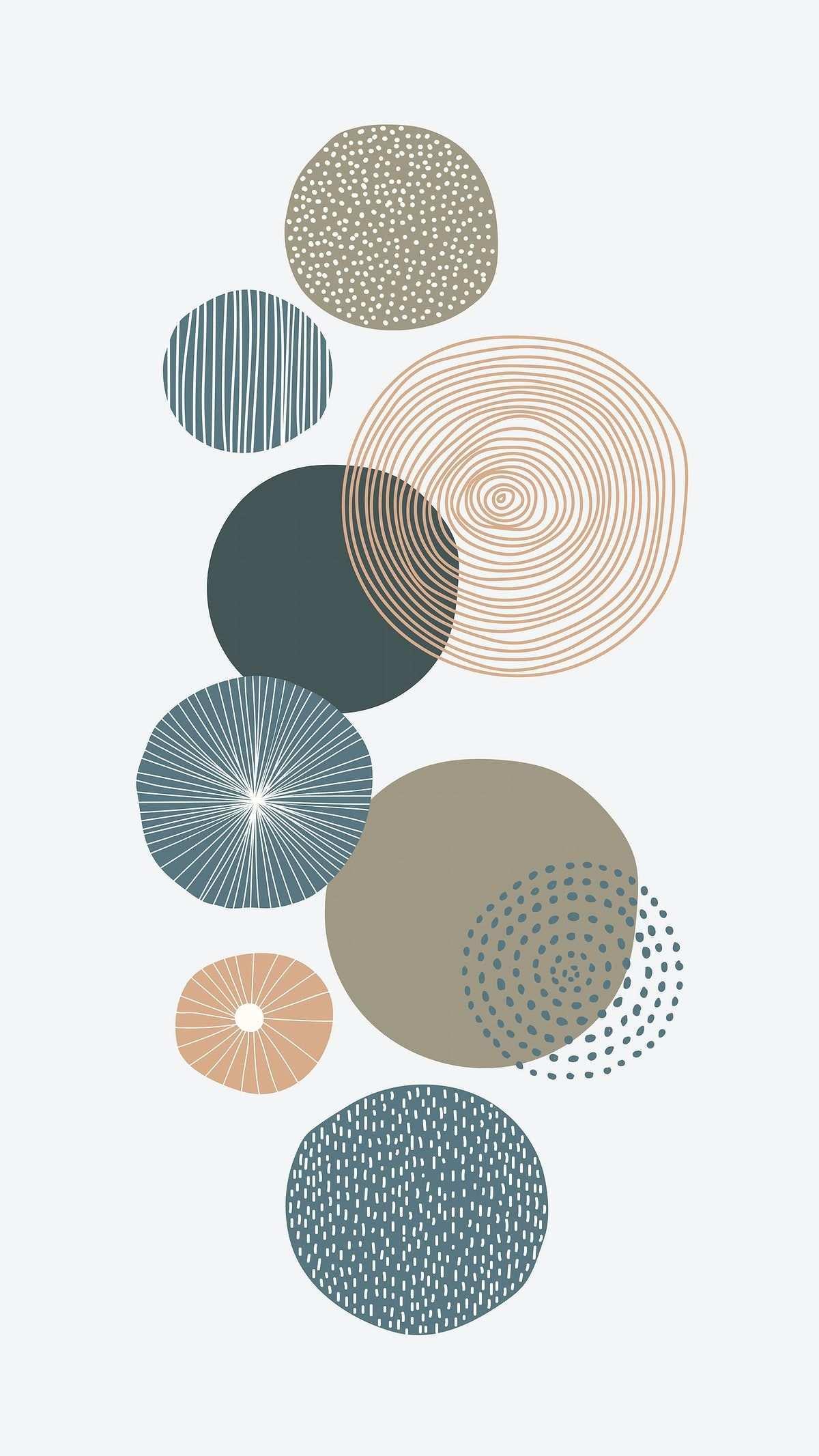 Download Premium Vector Of Round Patterned Doodle Background Vector 844910 Doodle Background Cute Patterns Wallpaper Minimalist Wallpaper
