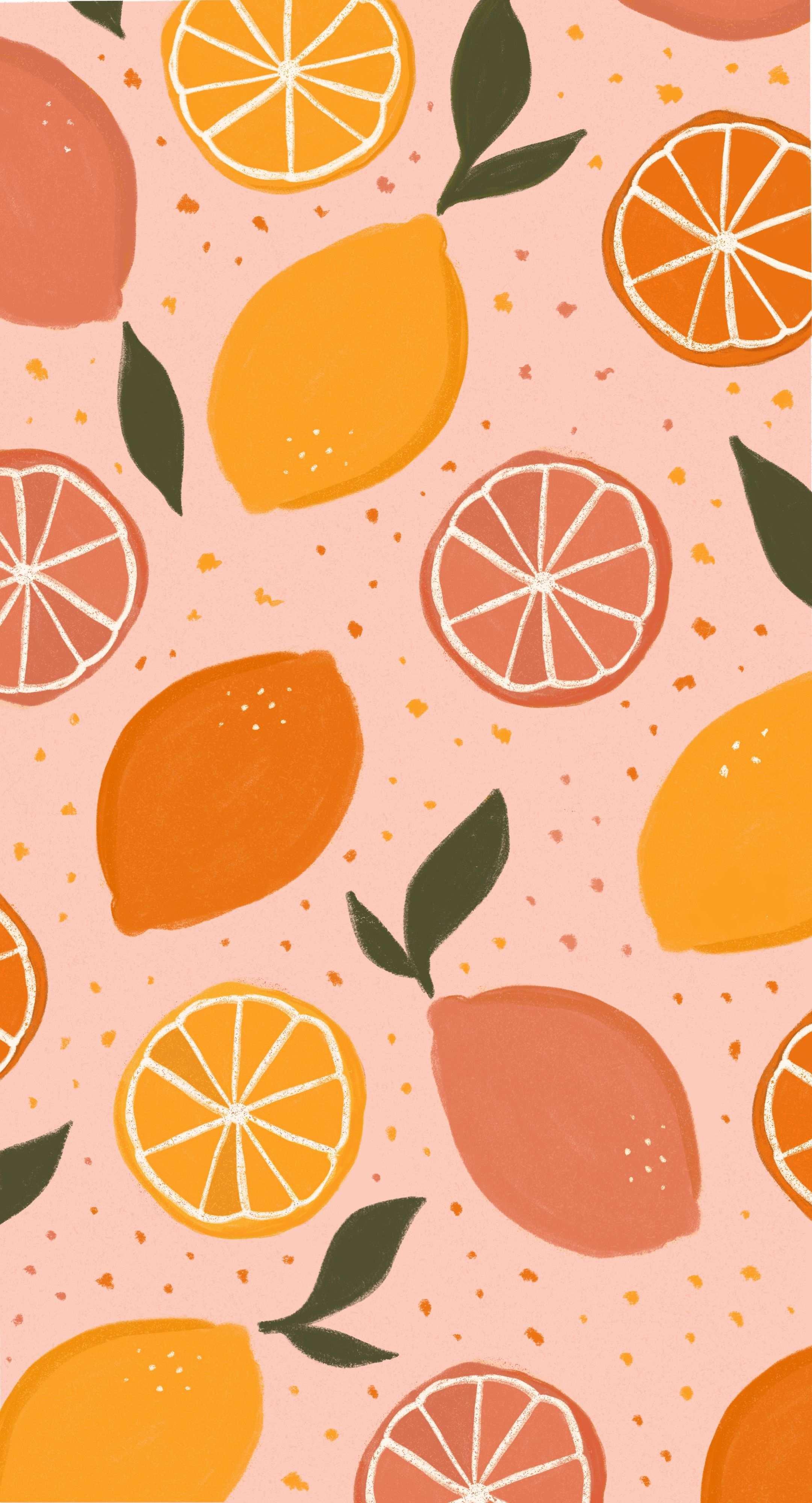 Lemon Pattern Illustration Cute Patterns Wallpaper Fruit Wallpaper Art Wallpaper