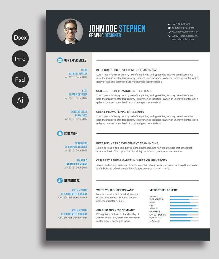 Free Ms Word Resume And Cv Template Free Design Resources Free Resume Template Word Free Cv Template Word Free Printable Resume