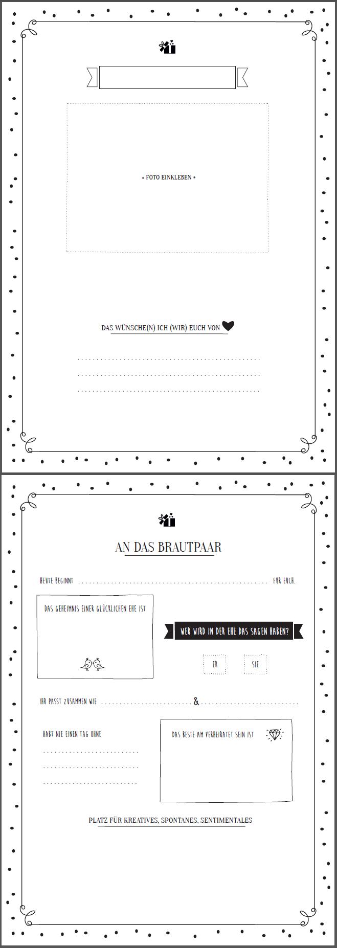 Tolle Gastebuch Vorlage Zum Ausfullen Gratis Download Hochzeitskiste Gastebuch Ideen Ideen Fur Die Hochzeit Gastebuch Hochzeit