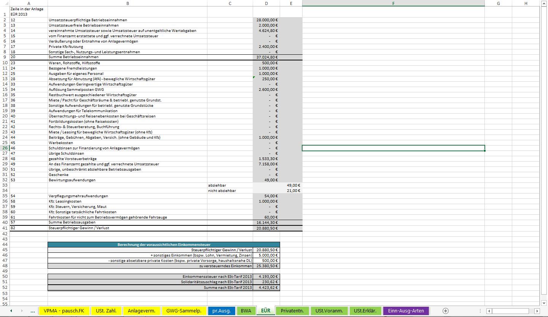 Bedienungsanleitung Excel Vorlage Einnahmen Uberschuss Rechnung 2013 Version Vorsteuerabzugsberechtigt Herausgegeben Von Dipl Kfm Pdf Free Download