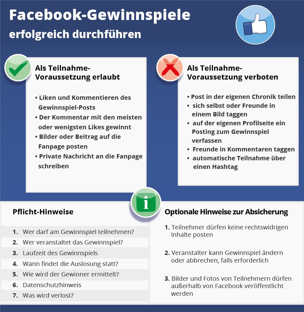 Facebook Gewinnspiel Regeln Beachten