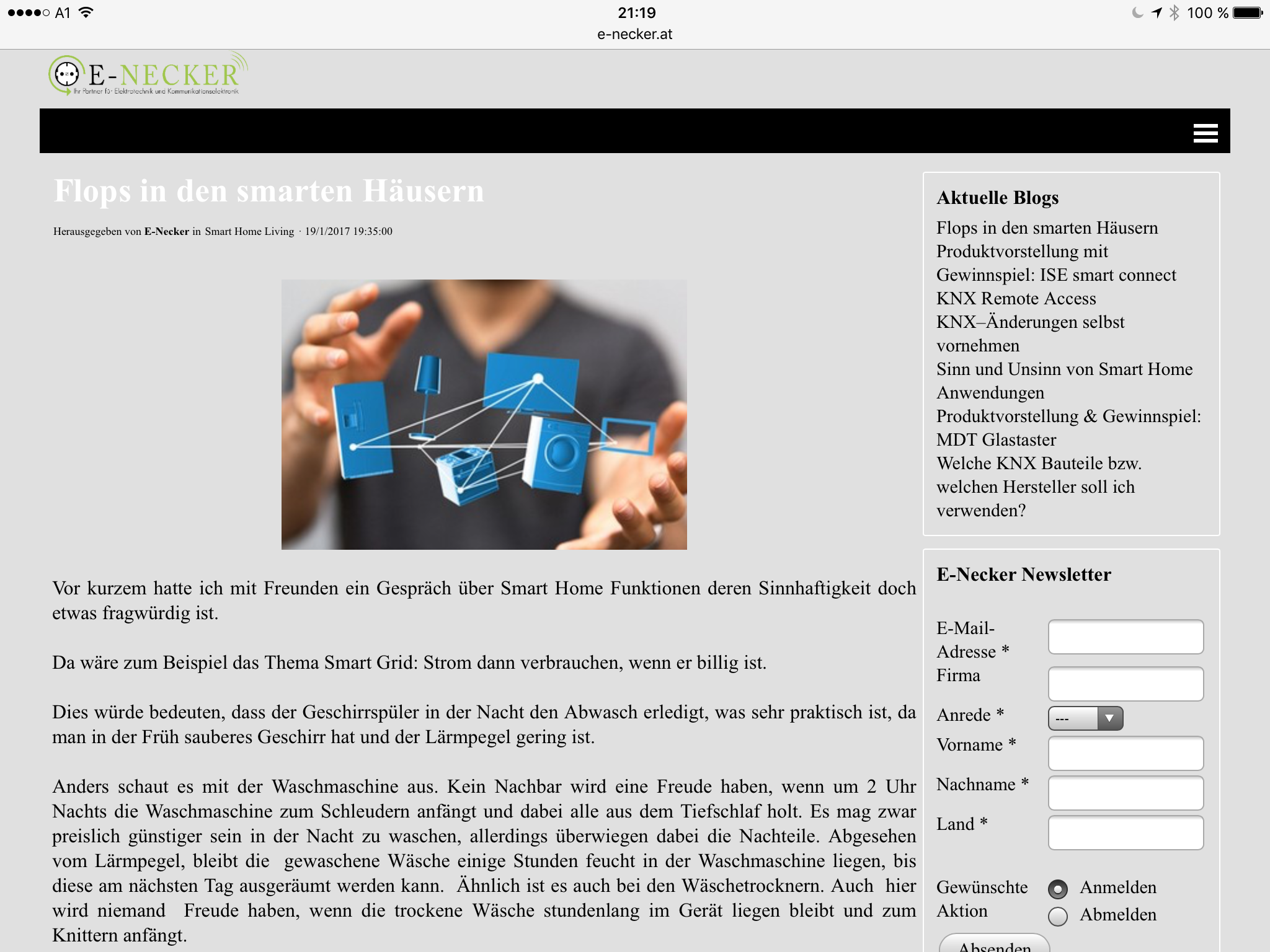 Flops In Den Smarten Hausern E Necker Gewinnspiel Blog Hai