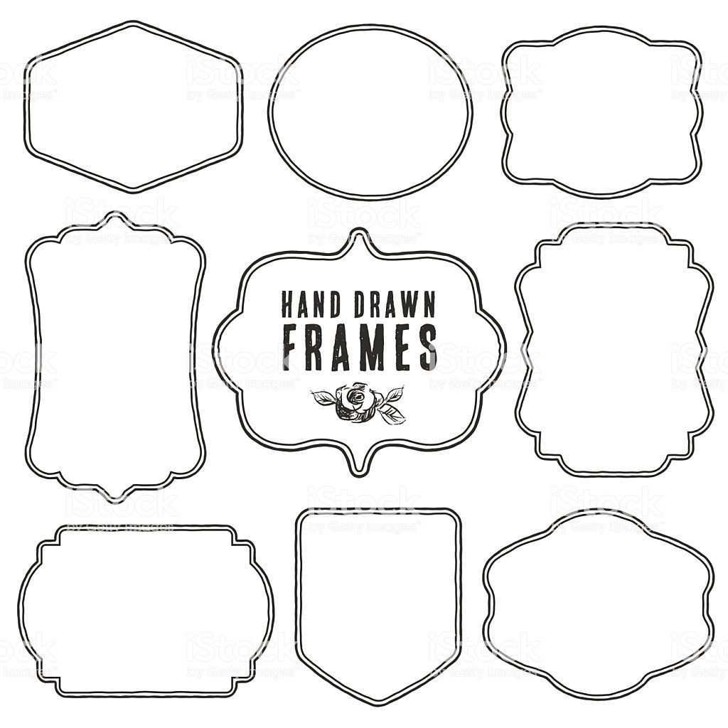Set Of Vintage Blank Frames And Labels Stock Vector Vintage Etiketten Etiketten Kostenlos Etiketten