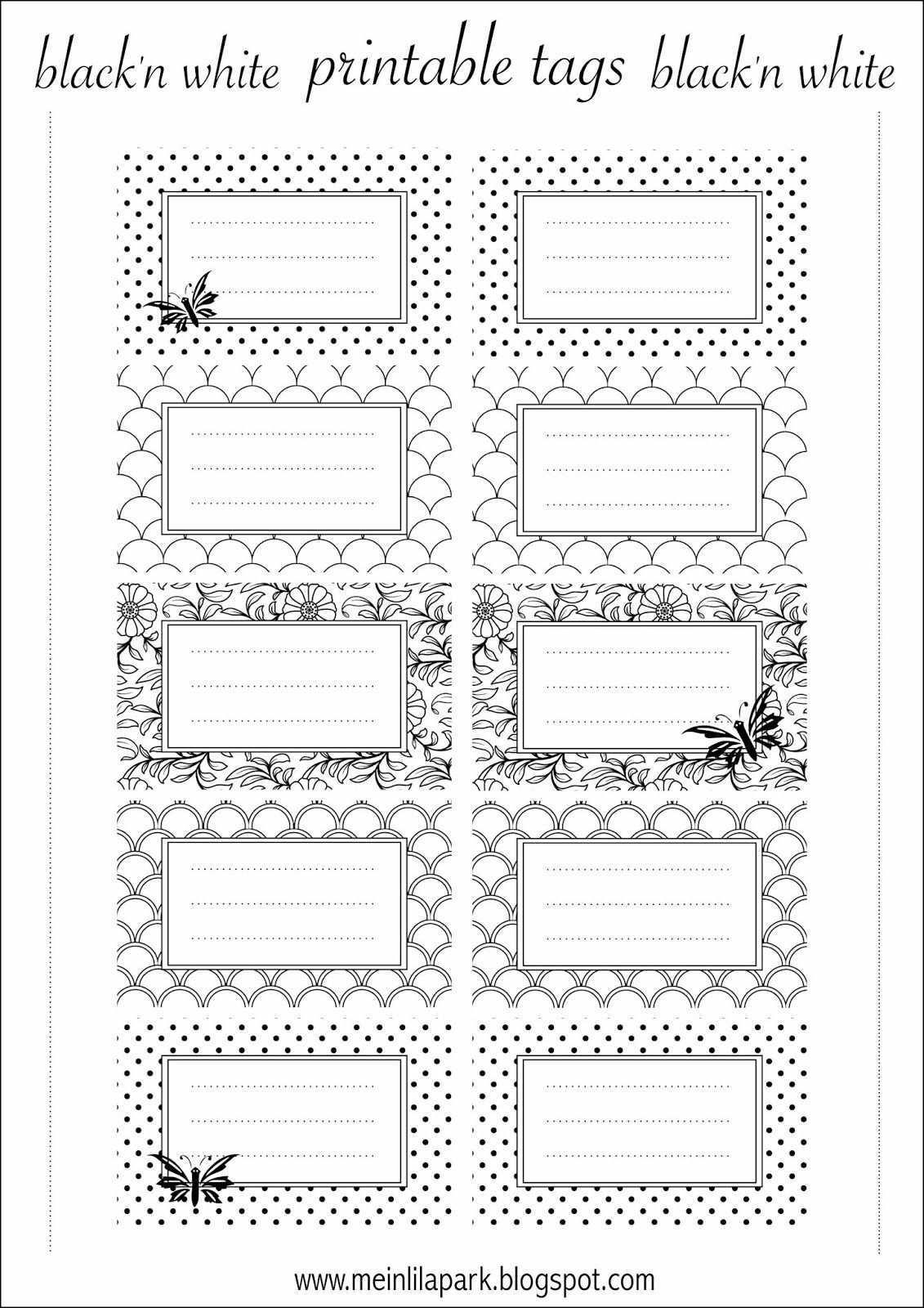Free Printable Tags Black And White Ausdruckbare Etiketten Freebie Meinlilapark Etiketten Selber Drucken Etiketten Drucken Etiketten Basteln