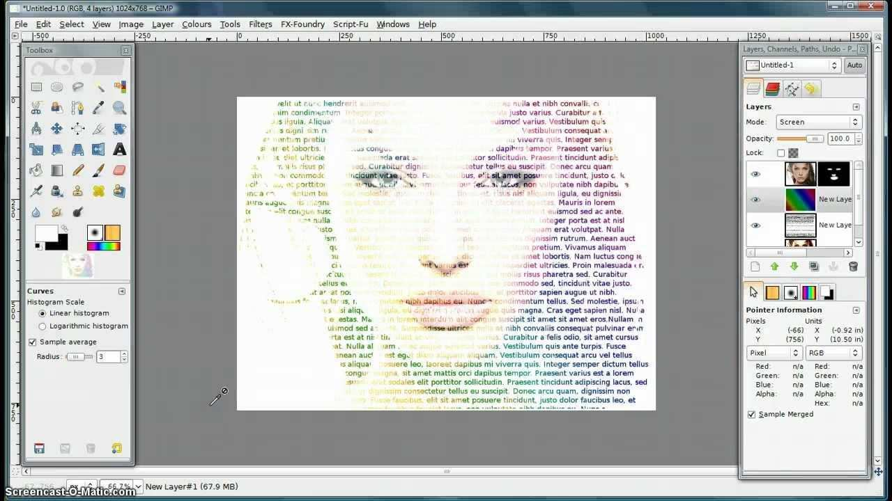 Gimp Tutorial Make An Image From Letters Gimp Tutorial Gimp Photo Editing Photoshop Tutorial