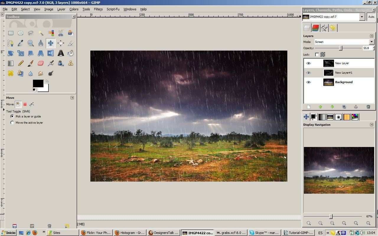 Learn How To Add Fake Rain To A Photo In Gimp Gimp Tutorial Photoshop Elements Tutorials Gimp