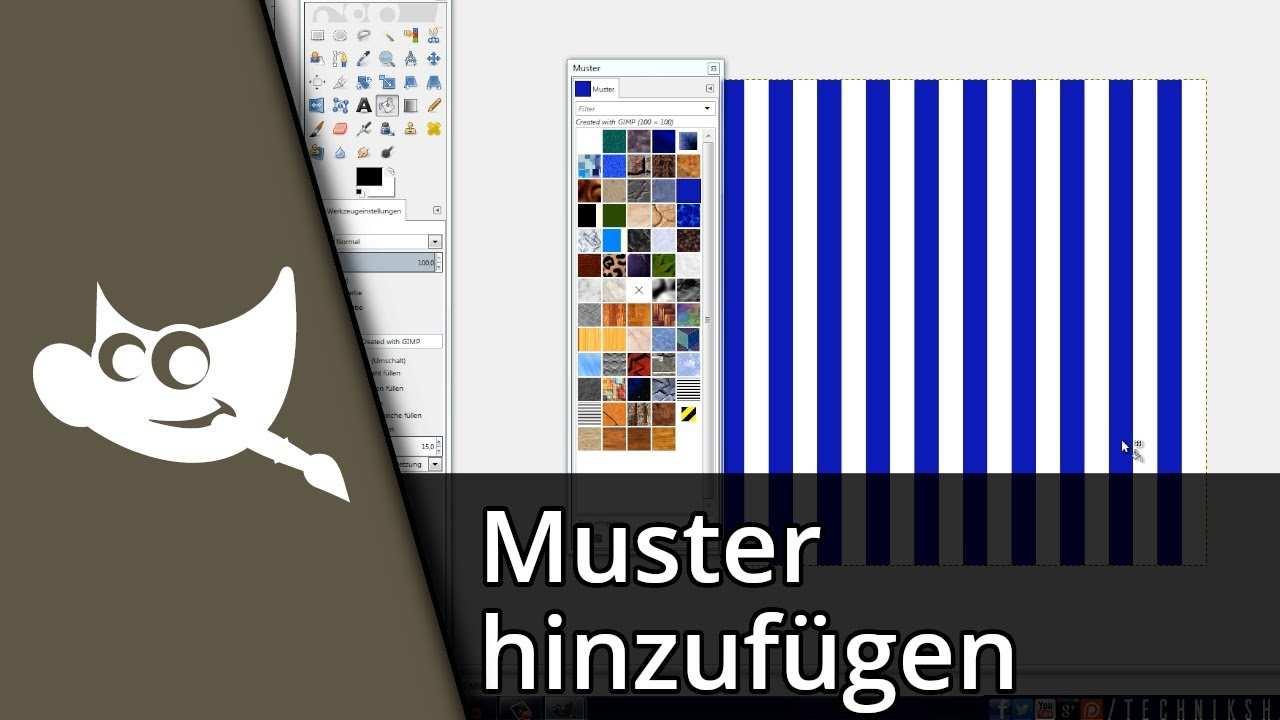 Gimp Muster Hinzufugen Tutorial Deutsch Hd Youtube