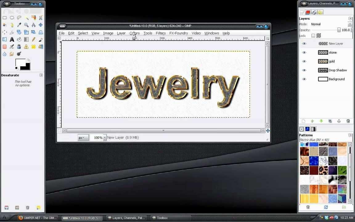 Gimp Tutorial Jewelry Text Effect Gimp Tutorial Jewelry Text Gimp