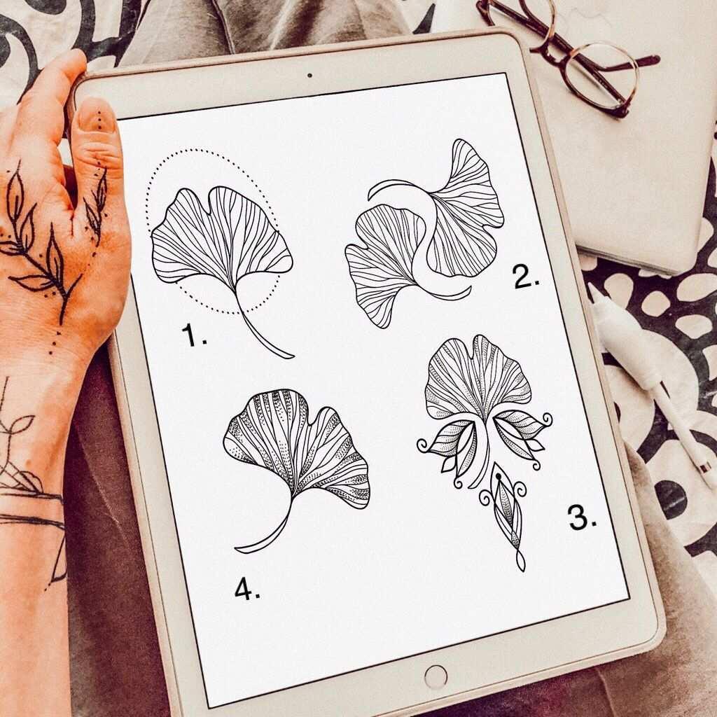 Tattoosketch Ginkgo Blatt Kleine Tattoos Vorlagen Tattoos Vorlagen Kleine Tattoos