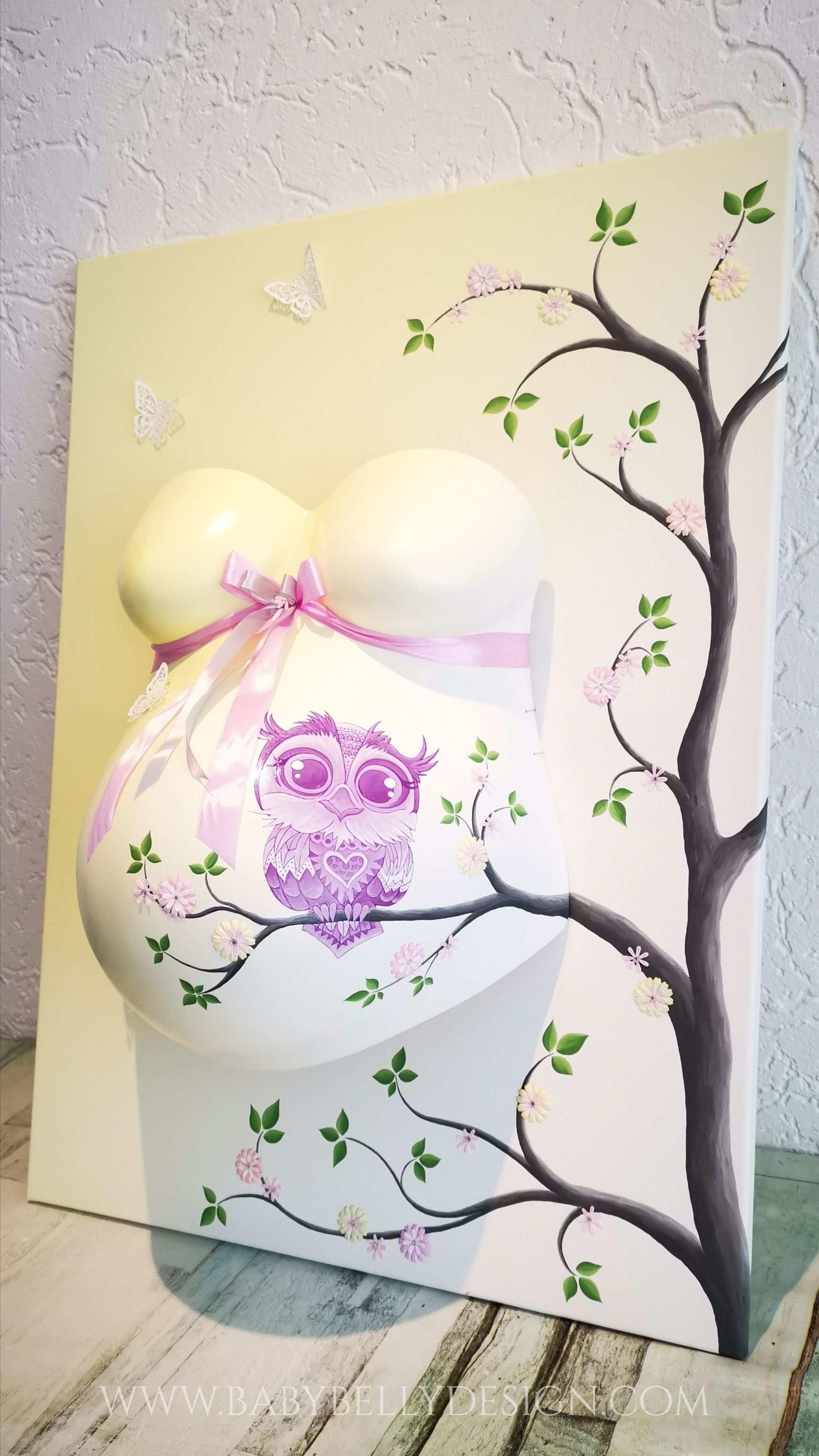 Pin Auf Babybellydesign Der Gipsabdruck Vom Babybauch