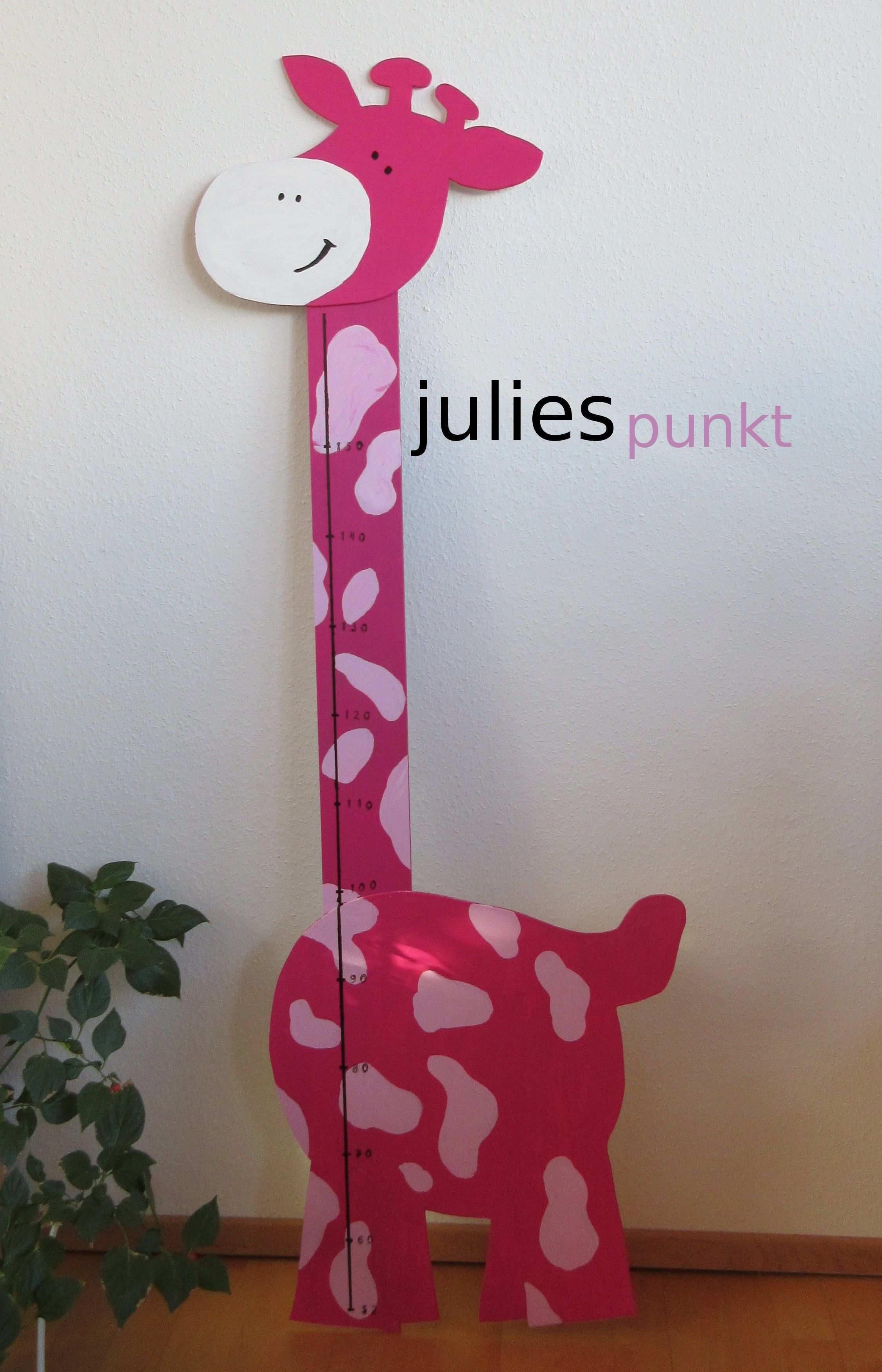 Diy Messlatte Giraffe Mobile Basteln Kindermesslatte Messlatte Kinder