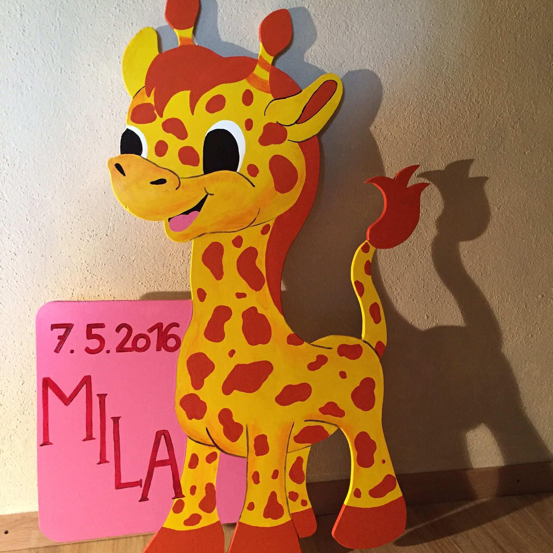 Pin Von Daniela Rick Auf Art Of Pictures Baby Tafel Geburtstafeln Giraffe