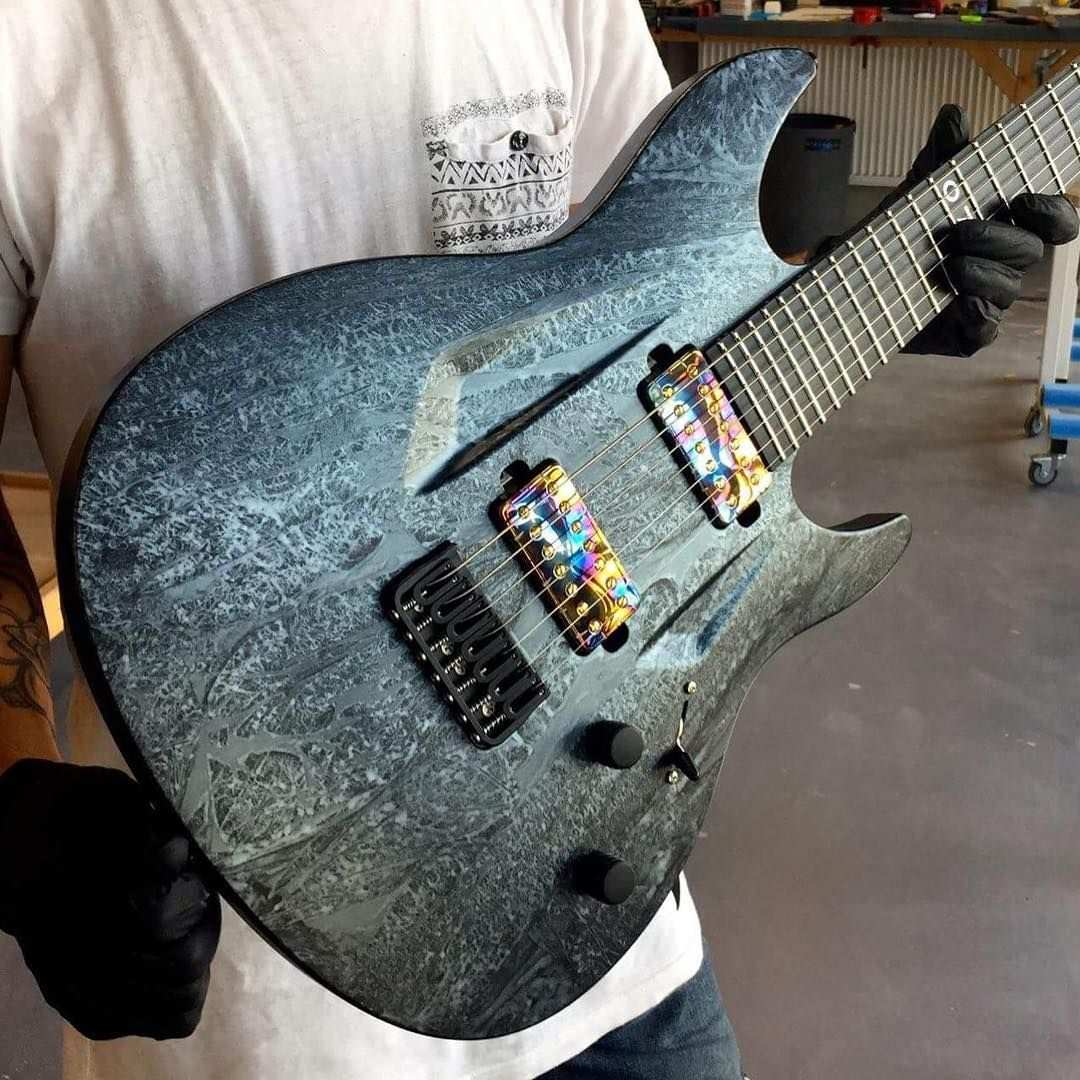 2 385 Likes 9 Comments Aristides Guitars Aristidesguitars On Instagram Aristides 070 Dgs Marble Satin Loaded With Guitar Guitar Obsession Guitar Inlay