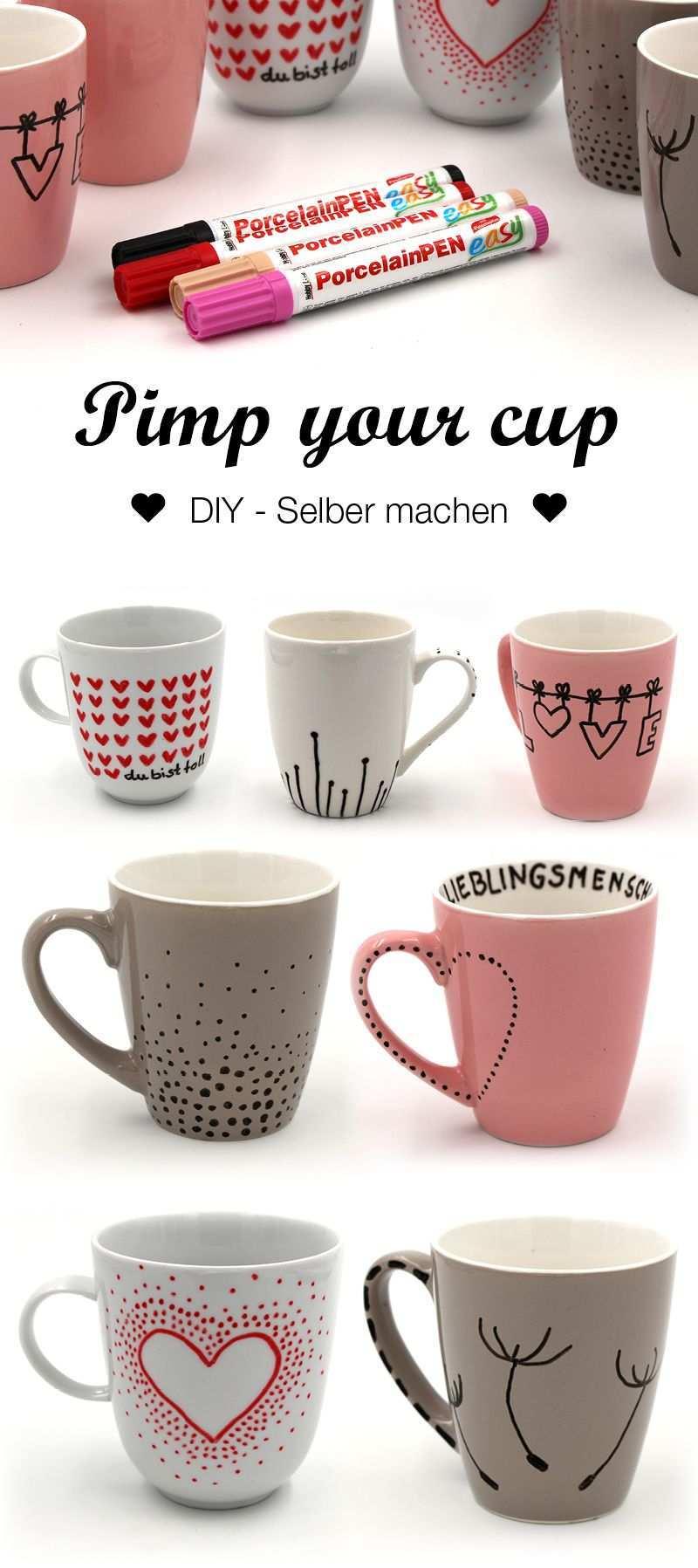 Tassen Bemalen Kreative Ideen Und Vorlagen Fur Das Tassen Selbst Gestalten Tasse Gestalten Diy Becher Tassen Bemalen