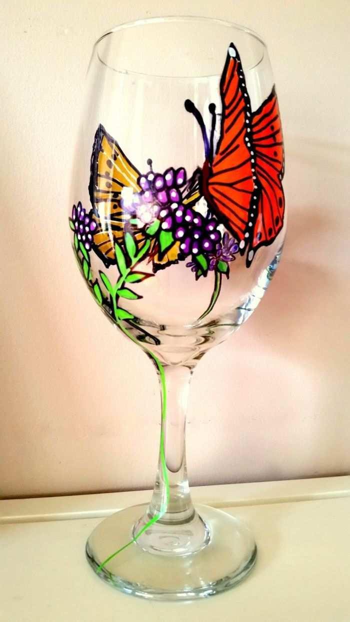 1001 Ideen Fur Glas Bemalen Zur Inspiration Und Zum Entlehnen Bemalte Weinglaser Farbe Fur Glas Glaser Dekorieren Kinder