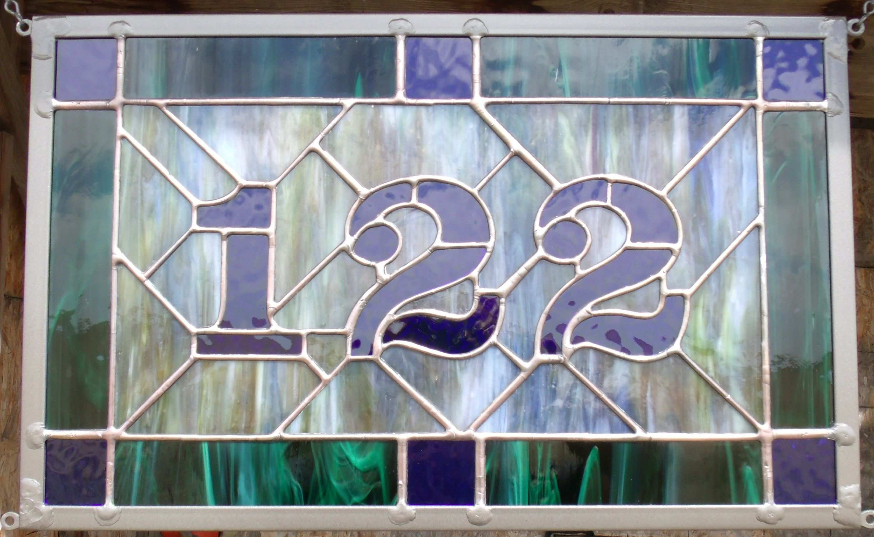 Address Clever Collection Custom Glass House Numbers Plaque Stained Stained Glass Clever Cust In 2020 Custom Stained Glass Stained Glass Mirror Stained Glass