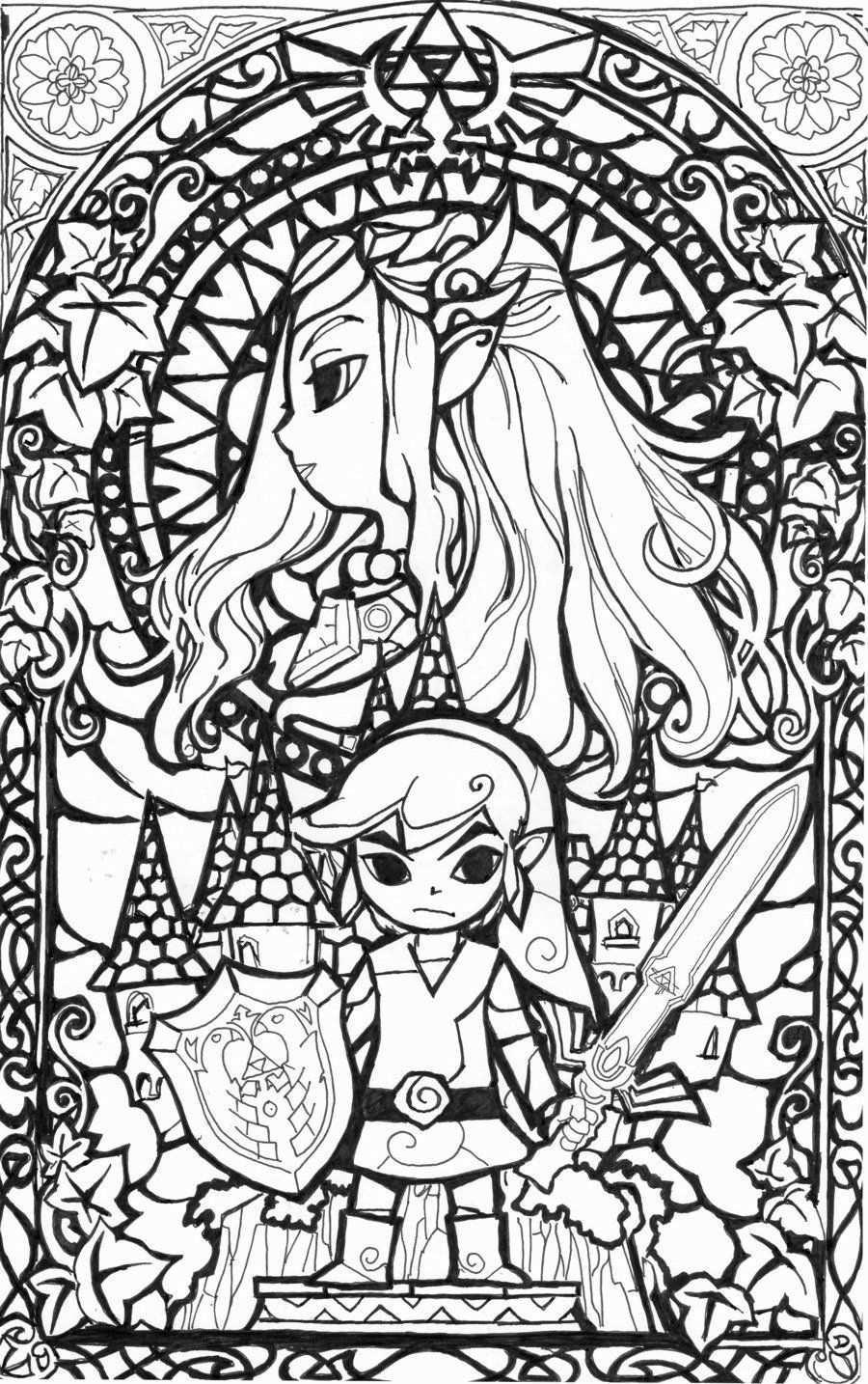 Legend Of Zelda Malbuch Inspirational Awesome Glasmalerei Zelda Coloring Coloring Page Ideas F Lustige Malvorlagen Ausmalbilder Kostenlose Ausmalbilder