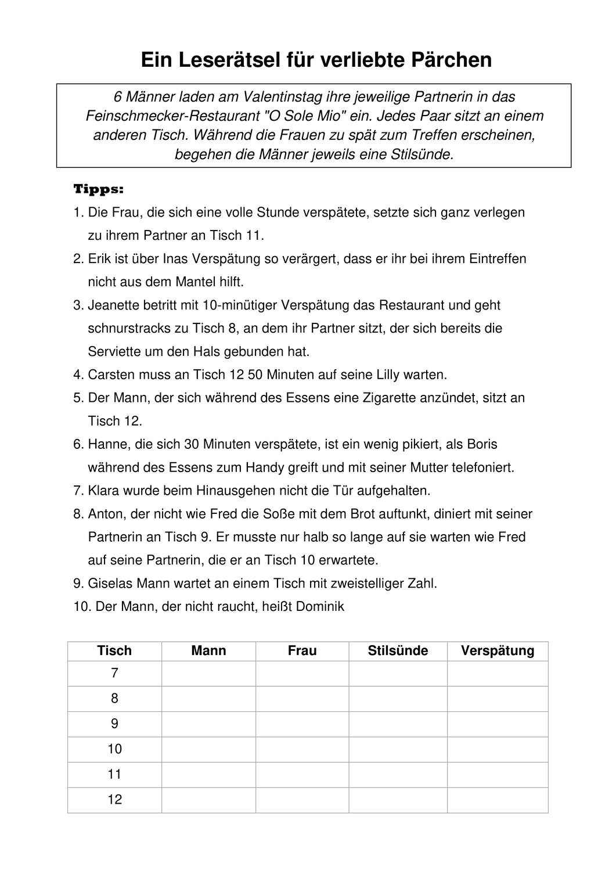 Logical Zum Valentinstag Unterrichtsmaterial In Den Fachern Deutsch Fachubergreifendes Unterrichtsmaterial Lernen Deutsch Lernen