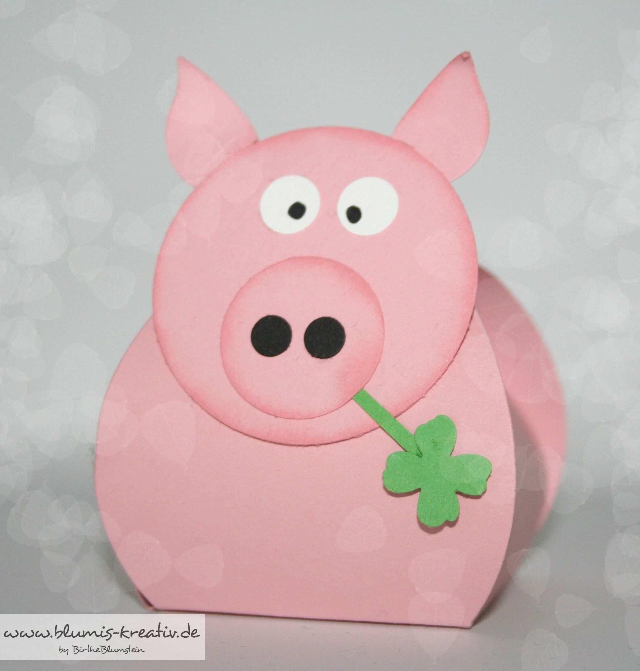 Glucksschwein Zum Neuen Jahr Lucky Pig Basteln Neujahr Basteln Silvester Glucksschweinchen Basteln