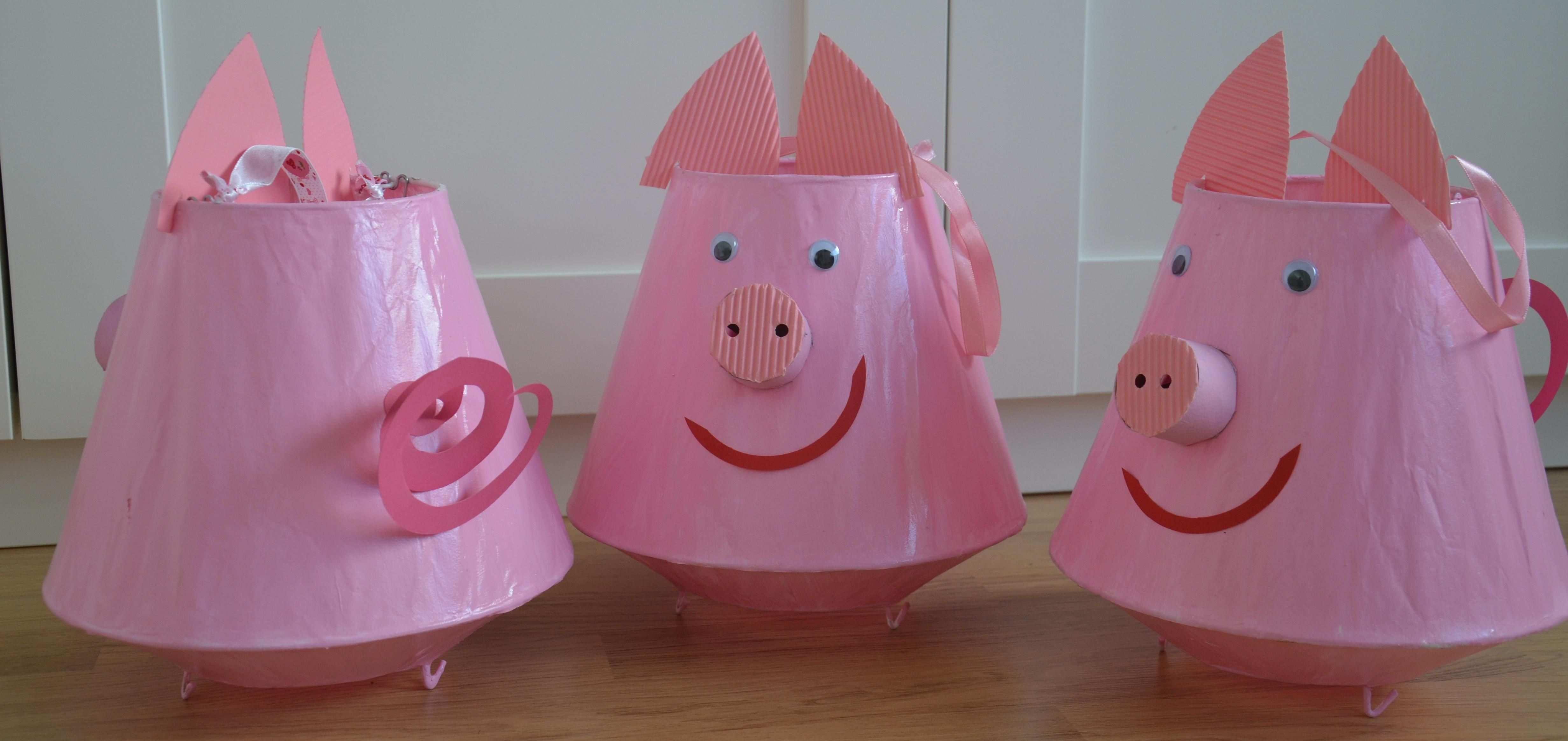 Glucksschweinchen Laterne Basteln Mit Kindern Glucks Schwein Glucksschwein