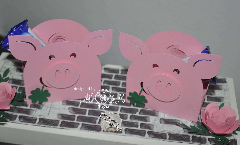 Plotterdatei Verpackung Glucks Schweinchen Miriamkreativ De Glucks Schwein Bastelarbeiten Plotterdatei