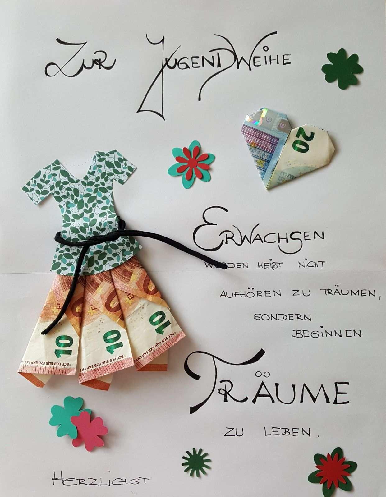 Gluckwunsch Jugendweihe Jugendweihe Geschenke Geldgeschenke Selber Basteln Geschenke Basteln
