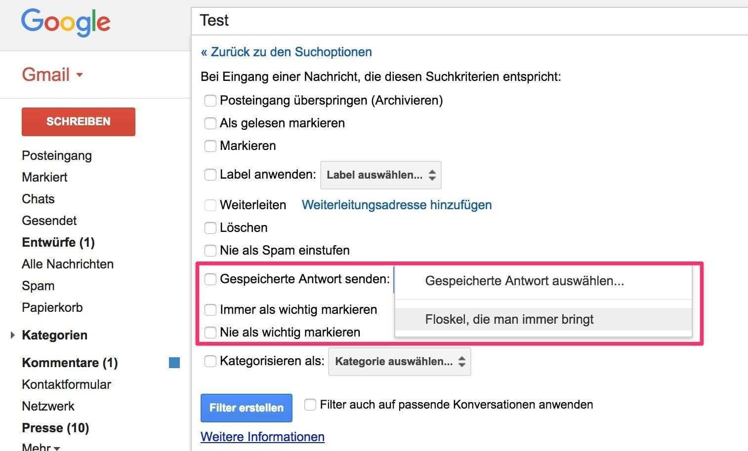 Gmail Vorgefertigte Antworten Erstellen Und Nutzen