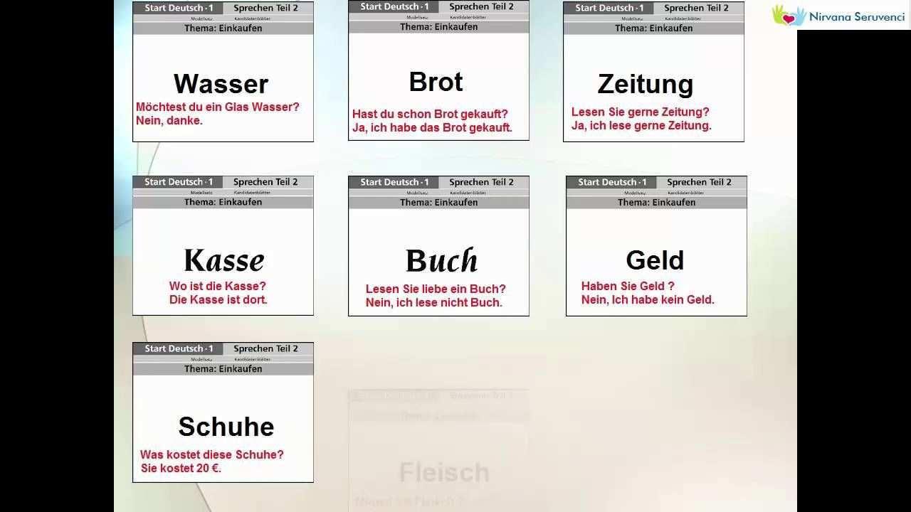 Mundliche Prufung A1 Teil 2 Mundliche Prufung Deutsch Lernen Text Auf Deutsch